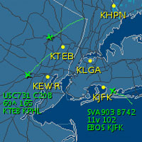 JFK Live Traffic @ FlightAware.com