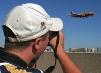 Photographer Matthew Smith takes a shot of a Southwest 737 in Los Angeles.