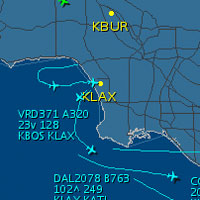 LAX Live Traffic @ FlightAware.com
