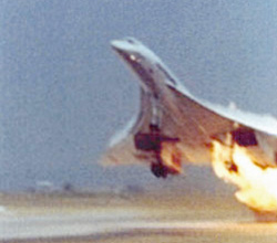 Air France Concorde fire crash