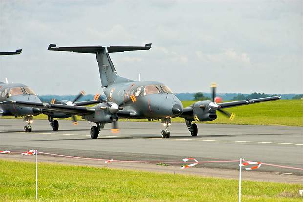 The French Air Force operates the military variant of the EMB-120, known as the EMB-121 Xingu. Photo by Pierre J.