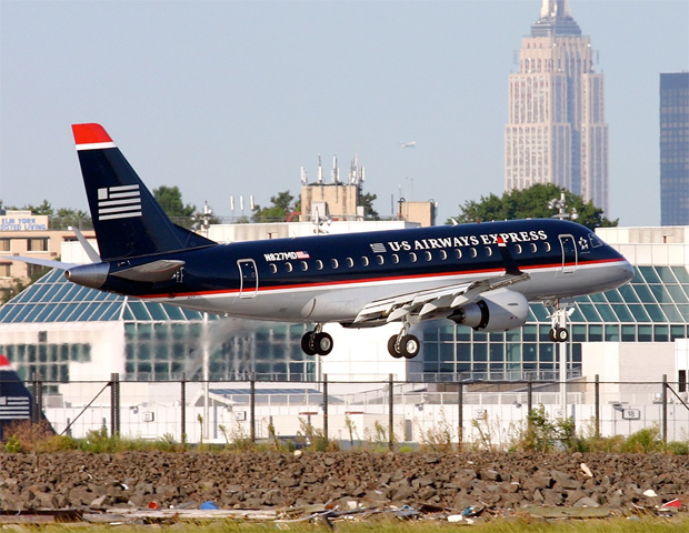 First Republic Airways Embraer-170 flight into LGA.