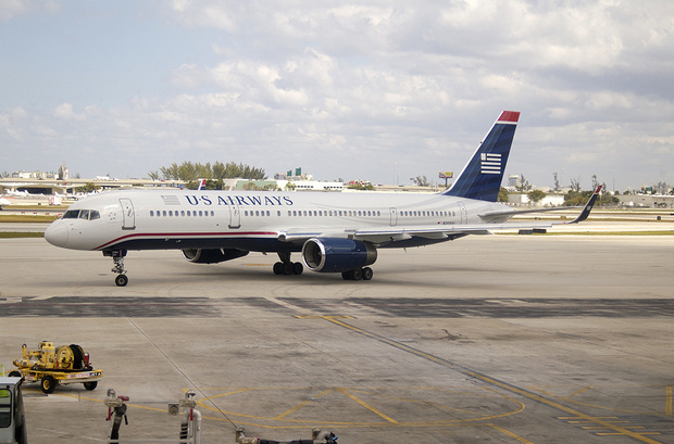 First US Airways 757 with winglets, photographed after its first flight. (Photo by Jay Selman)