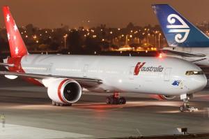 V Australia 777-300ER (Photo by Matt Wallman)