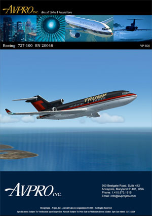 The main image on the promotional brochure seems to be a screenshot from Microsoft Flight Simulator. Click to read the booklet.