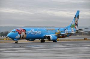"""Alask Airlines' """"Spirit of Disney II"""" 737-900 N318AS"""