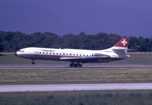 The SE-210 Caravelle (HB-ICK) that crashed at SA de Transport Aerien Flight 370.