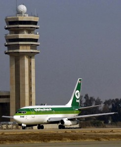 An Iraqi Airways Boeing 737-200 similar to the one involved in the hijacking and crash of Flight 163.