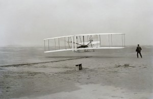 The birth of aviation, as the Wright Flyer takes to the air!