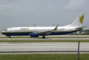 Miami Air sent a pair of flights down for support deliver in the form of a 737-800.
