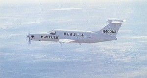 American Jet Industries Hustler 400 prototype in flight