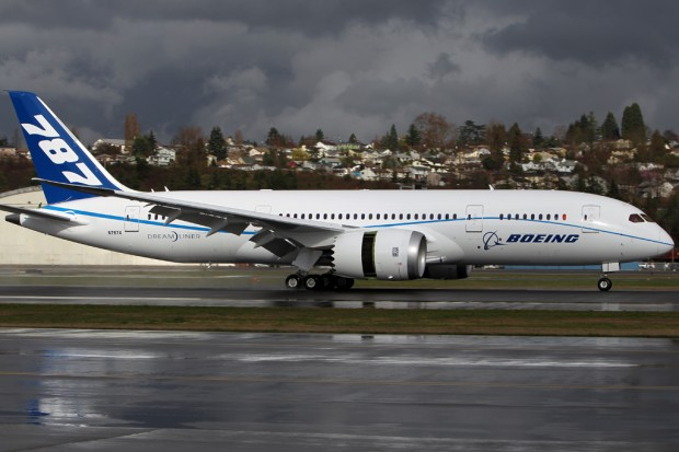 Boeing 787 test flight N7874