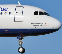 JetBlue Heres looking at blue kid Airbus A320
