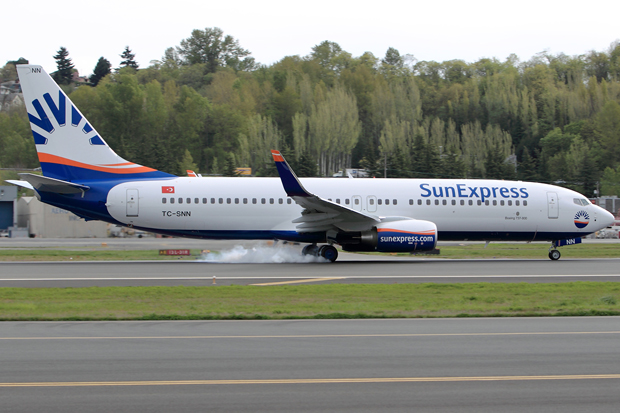 SunExpress new livery 737-800 reg TC-SNN