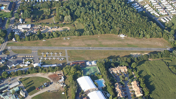 Marlboro Airport as seen from the air
