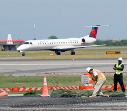 Runway work at JFK Airport.