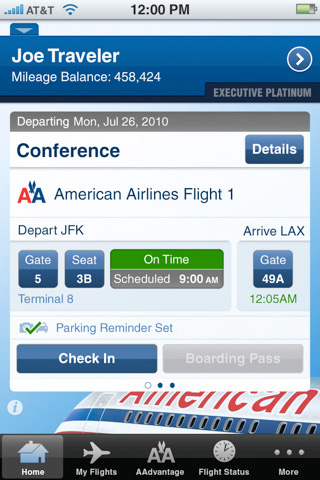 American Airlines iPhone App