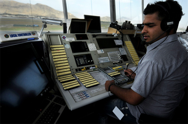 Milad Hazrati Afghanistan first fully qualified air traffic controller Kabul Airport