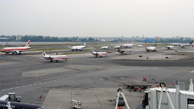 Busy day at LGA