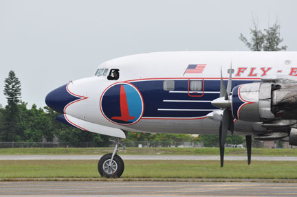 Eastern Air Lines DC-7B at Opa Locka Airport