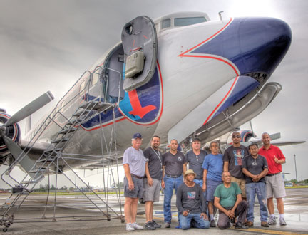 Historical Flight Foundation DC-7B crew