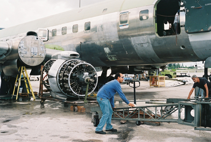 Eastern DC-7B restoration