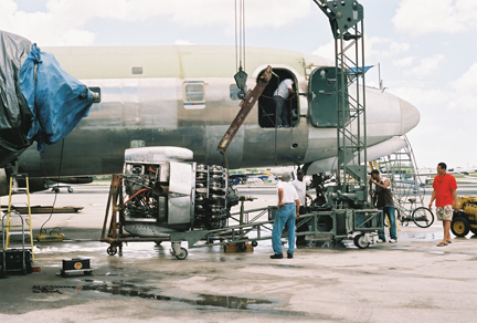 Eastern DC-7 engine restoration
