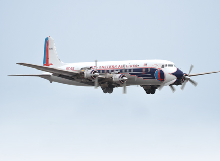 Eastern DC-7B First Flight
