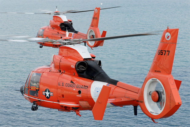 US Coast Guard HH-65C Dolphin helicopters