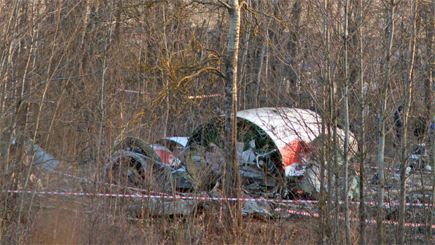 Poland Tu-154 Crash Wreckage