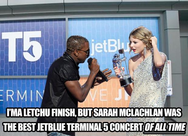 Kanye West Taylor Swift JetBlue