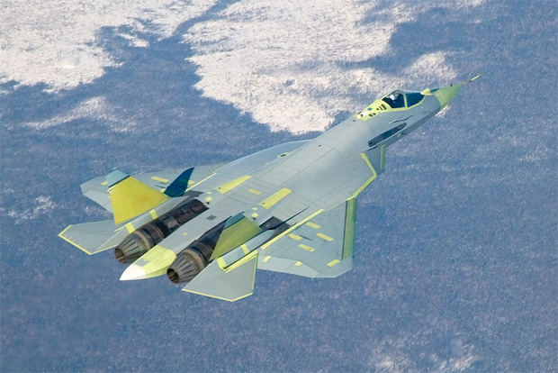 First flight of the Sukhoi PAK/FA T-50 prototype in January 2010