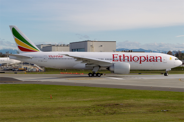 Ethiopian Boeing 777-200LR ET-ANN 900th Boeing 777