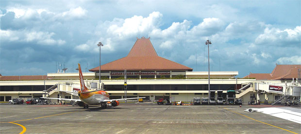 Juanda International Airport terminal in Surabaya, Indonesia