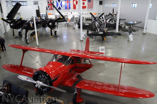 Staggerwing; F7 Tigercat, F8 Bearcat, Spitfire; Beaver, P-51