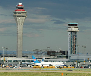 Beijing Capital International Airport, control towers and Terminals 1 and 2