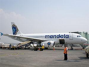 Mandala Airbus A319 PK-RMF
