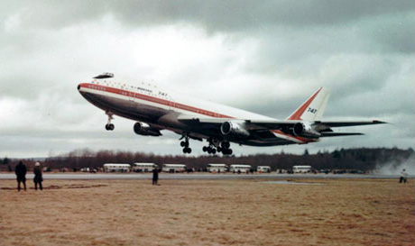 First takeoff by the Boeing 747