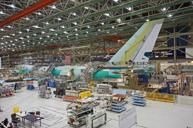 Boeing 747-8I under construction