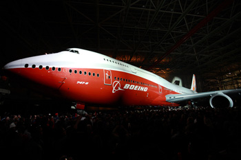 Boeing 747-8 Intercontinental is unveiled in Washington