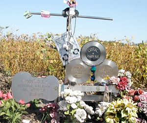 The Day the Music Died memorial Buddy Holly, Ritchie Valens, Big Bopper