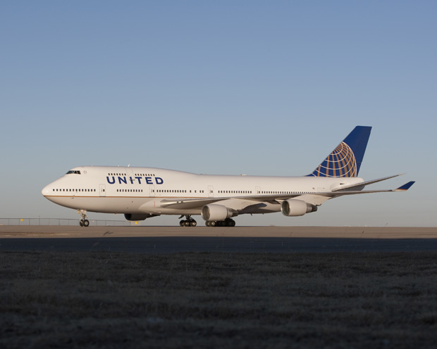 United Continental new livery Boeing 747 N127UA