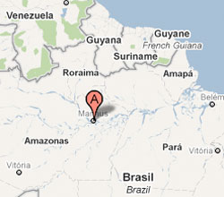 Manaus Brazil Piper PA-34 Seneca crash map