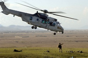 French Army Cougar helicopter ISAF Afghanistan