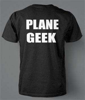 Plane Geek t-shirt
