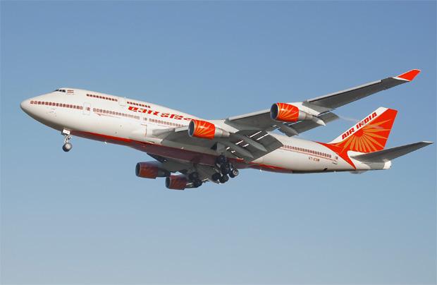 Air India 747-400 VT-ESM on approach to London Heathrow.
