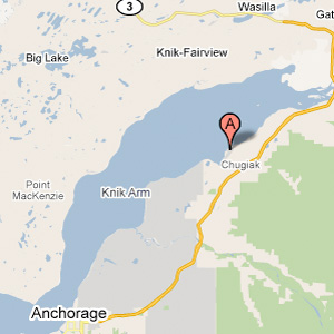 Chugiak Alaska plane crash map