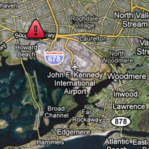 Approximate location of JFK crash