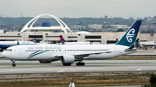 Air New Zealand 767-300ER ZK-NCI taxis at LAX