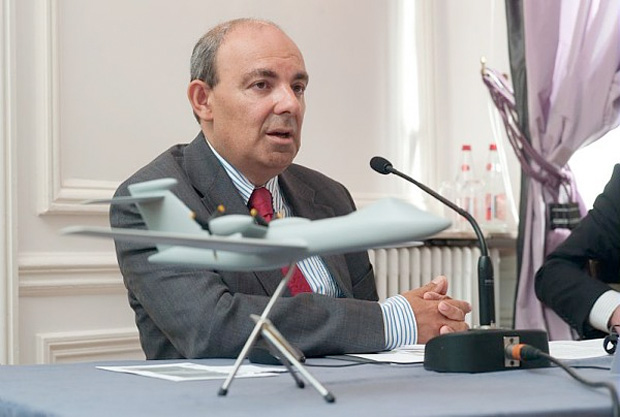 Eric Trappier, Executive Vice President International at Dassault Aviation, at a press conference announcing the Telemos project